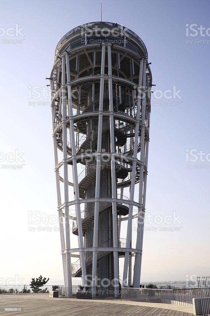 Enoshima lighthouse tower stock photo