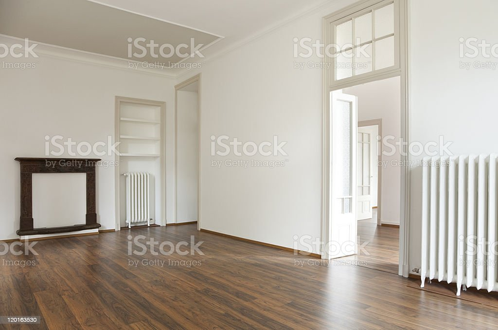 enovated apartment empty royalty-free stock photo
