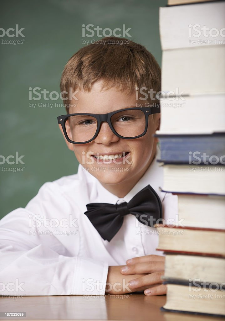 Enriching his young mind royalty-free stock photo