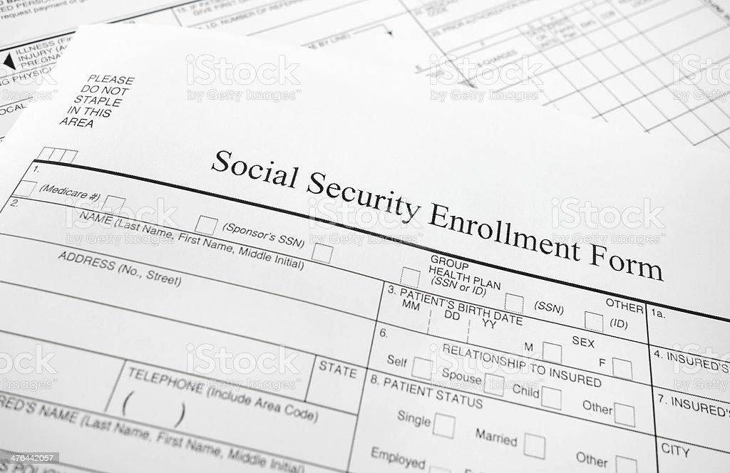 enrollment form stock photo