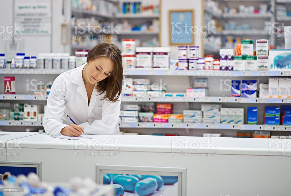 Ensuring every prescription is correct stock photo