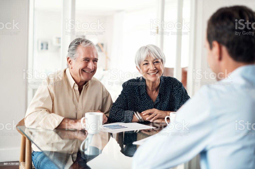 Gewährleisten sie einen stressfreien Ruhestand durchkommen - Lizenzfrei 70-79 Jahre Stock-Foto