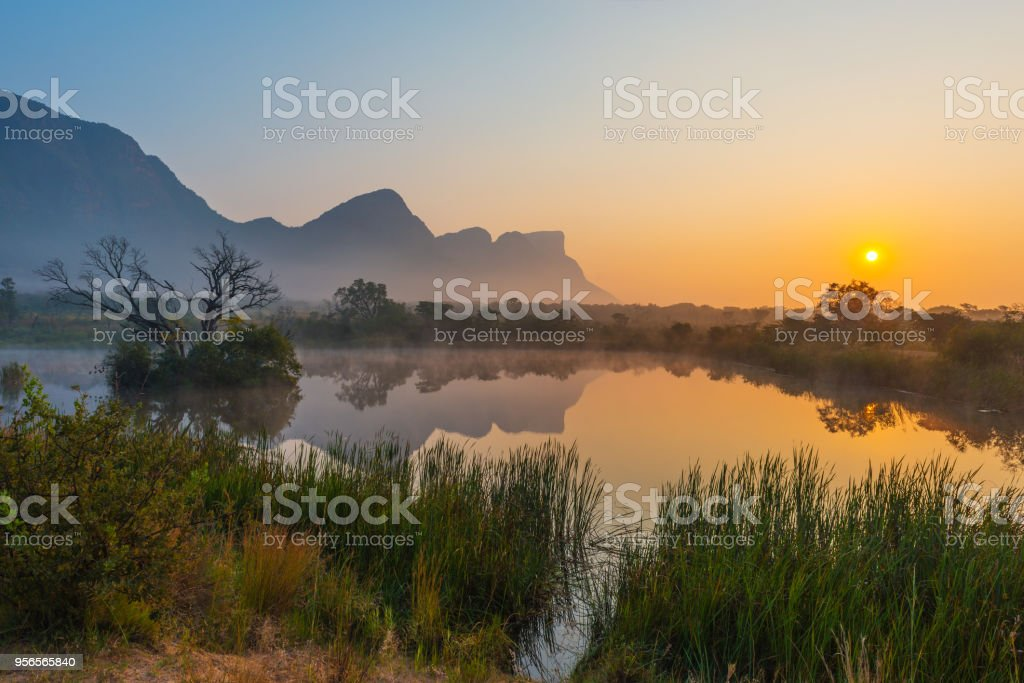 Entabeni Game Reserve in South Africa stock photo