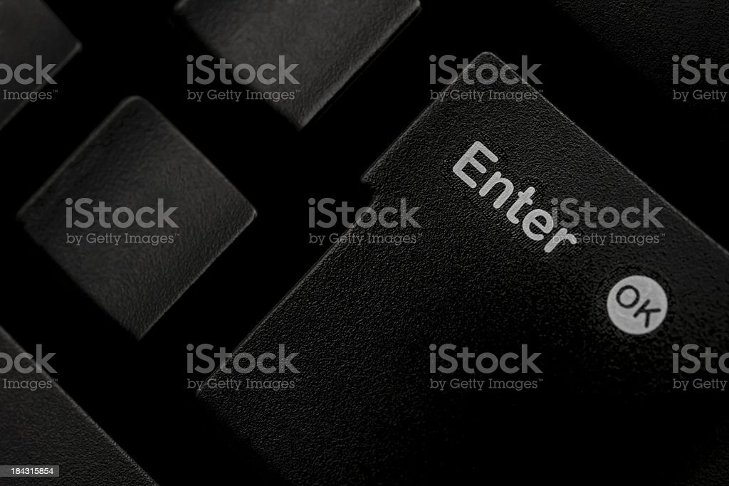 enter button royalty-free stock photo