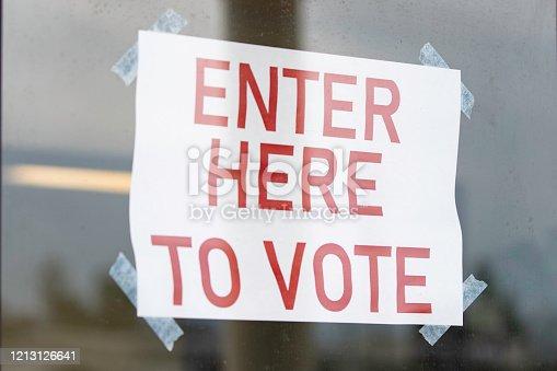 507831144 istock photo Enter Here to Vote 1213126641