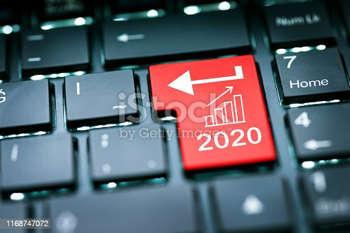 Enter in 2020 year with rising chart