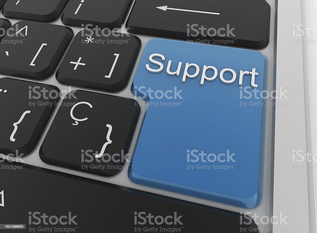 Eingabetaste-Unterstützung - Lizenzfrei Computer Stock-Foto