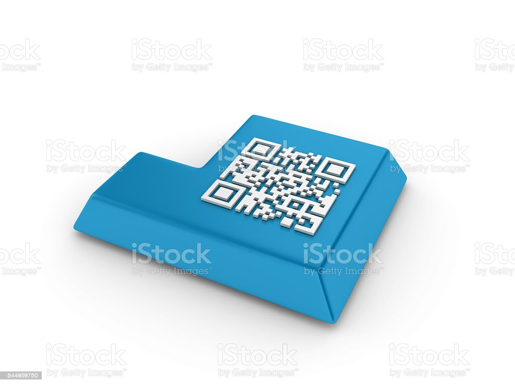 Enter Key With Qr Code Stock Photo & More Pictures of Bar Code - iStock