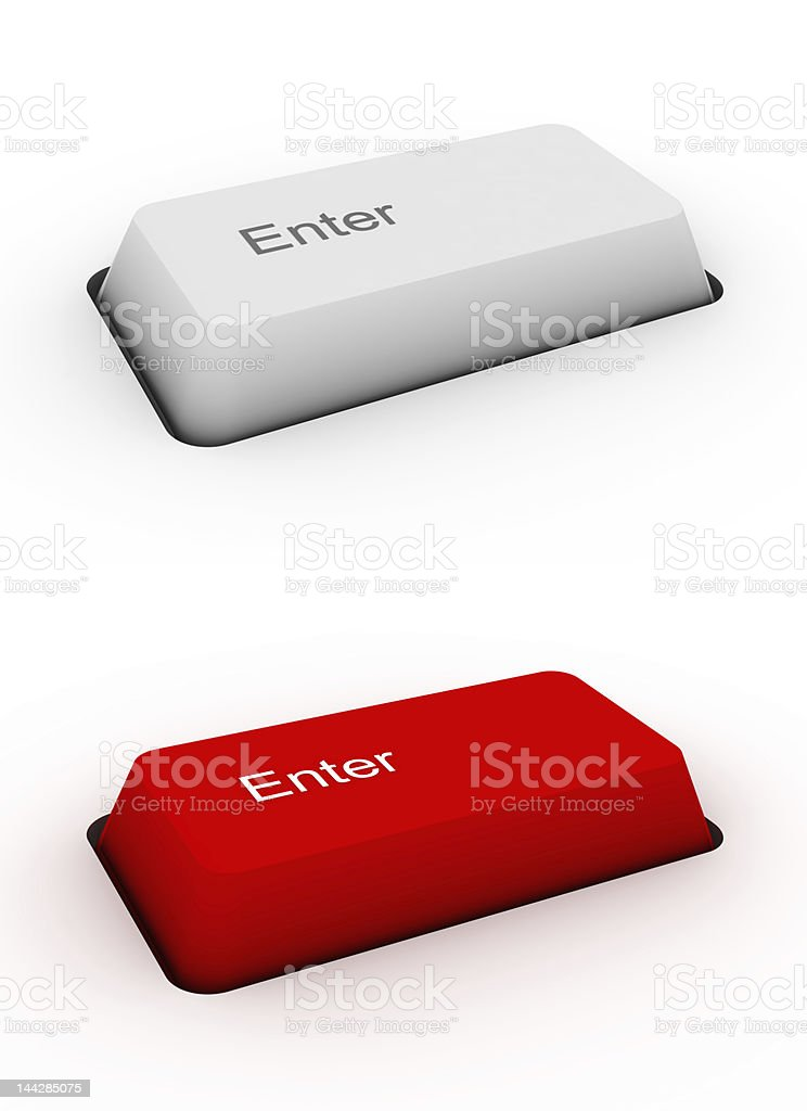 Enter - keyboard button royalty-free stock photo