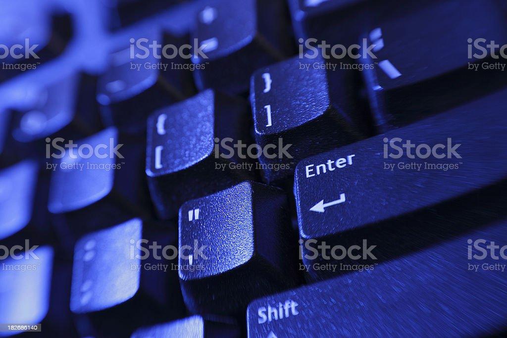 Enter Keyboard royalty-free stock photo