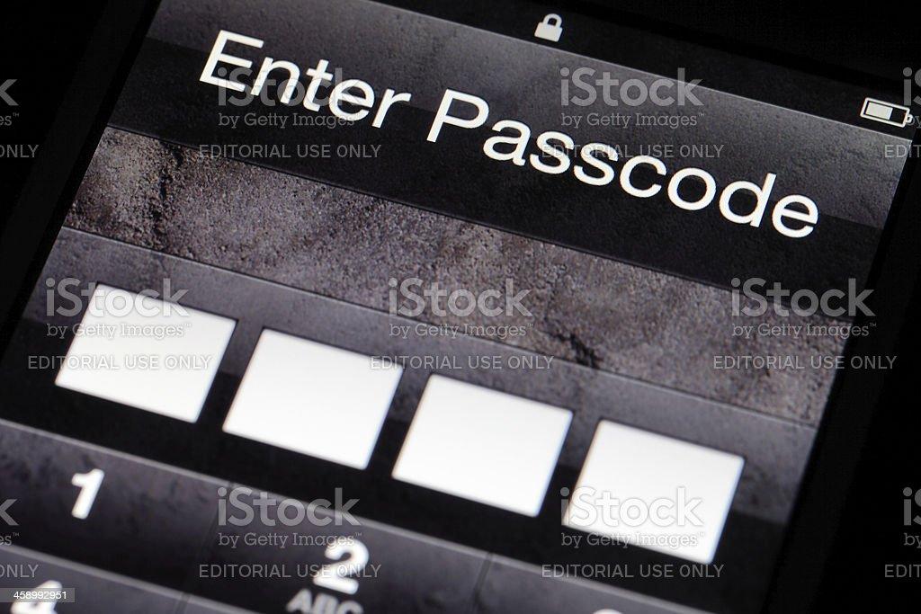 Enter Passcode stock photo