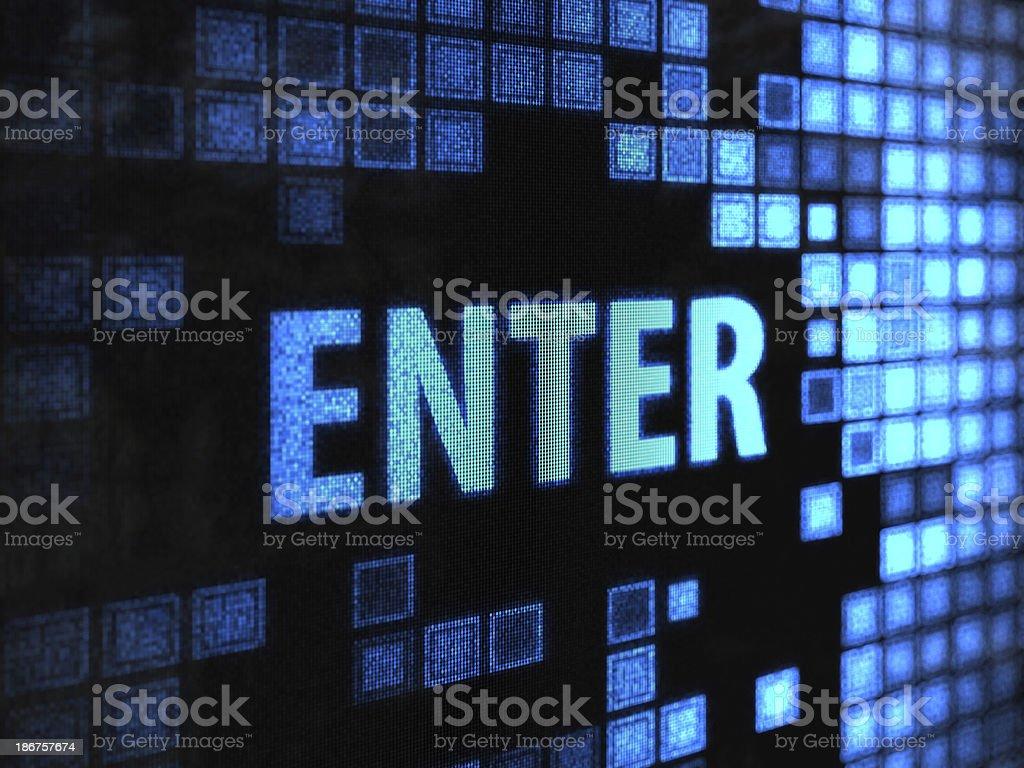 enter royalty-free stock photo