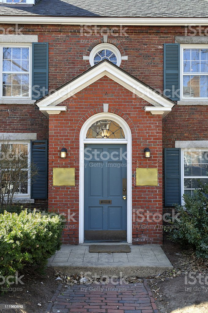 Enter the Brick Building royalty-free stock photo