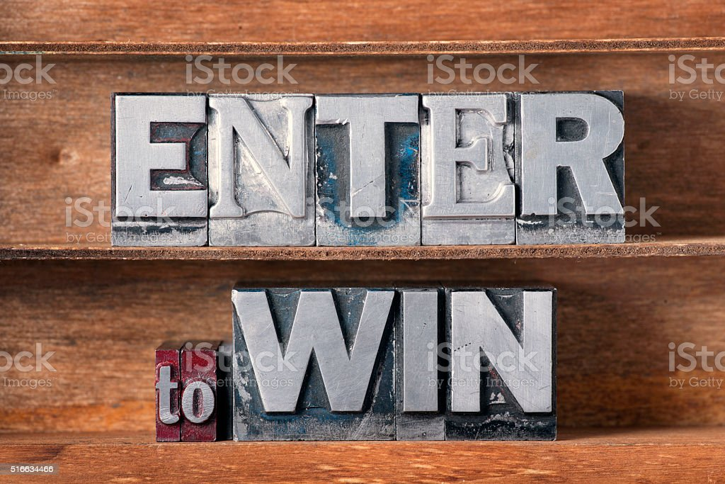 enter to win stock photo