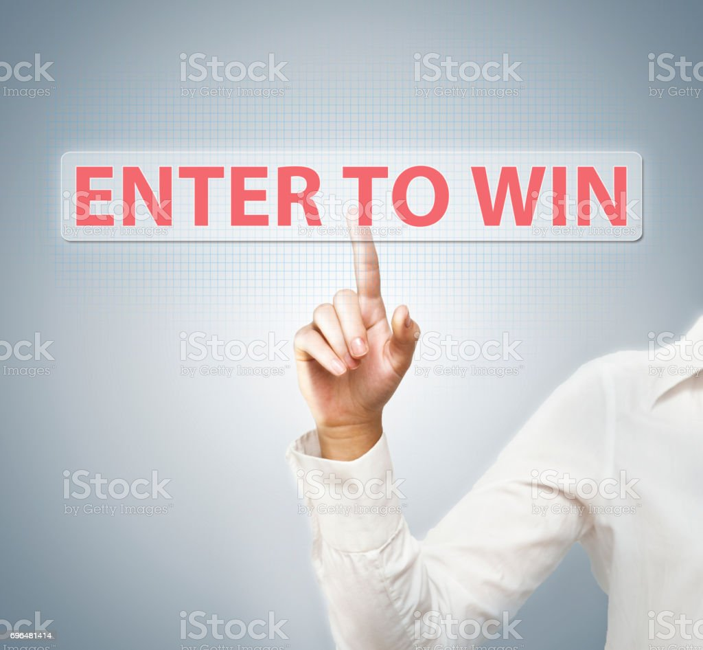 Enter to win / Touch screen concept (Click for more) stock photo