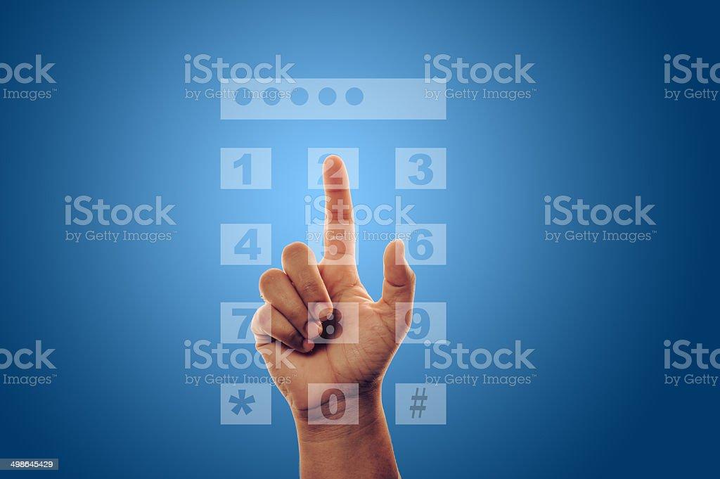 entering a password stock photo