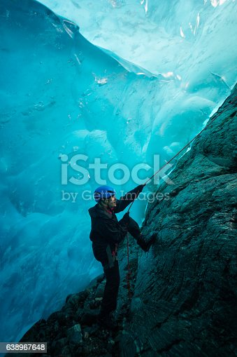istock Entering a world of blue ice 638967648