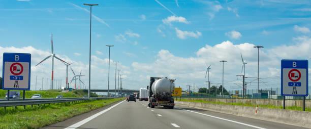 Entering Belgium stock photo