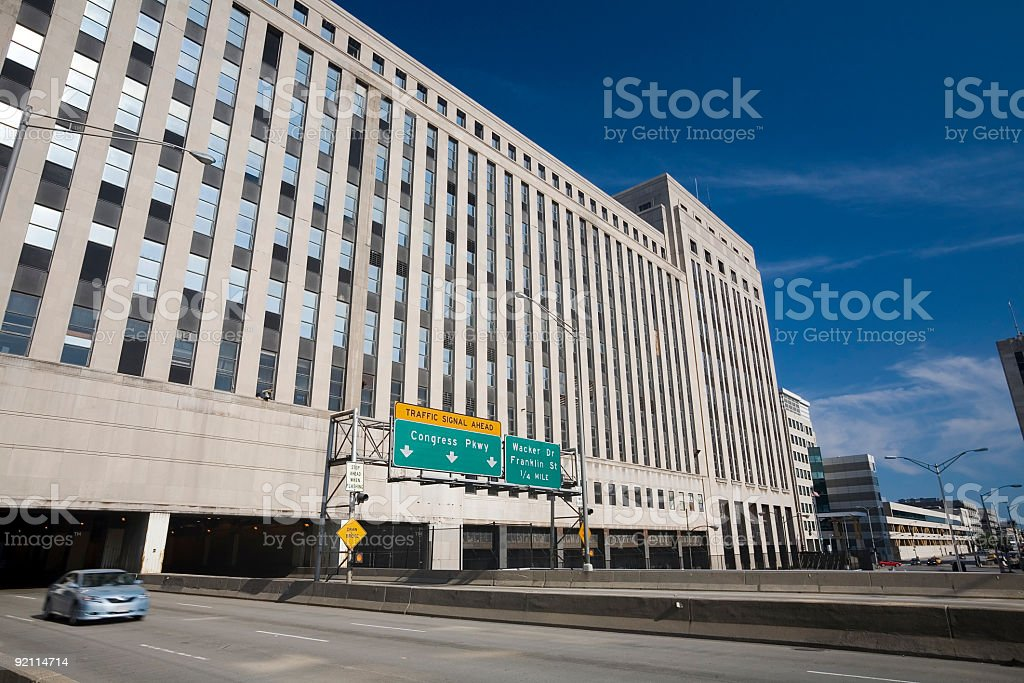 Entering Chicago royalty-free stock photo