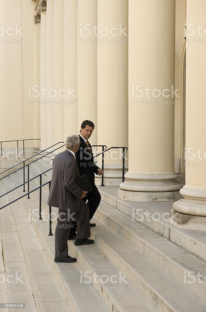 Entering Court royalty-free stock photo