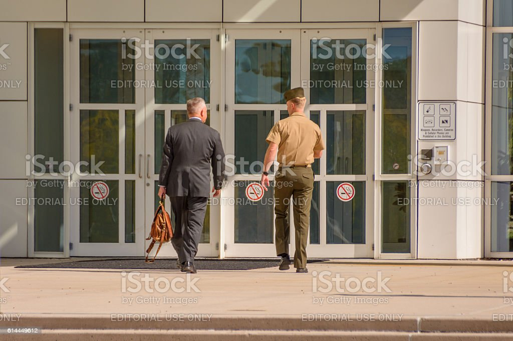 Entering federal court. stock photo