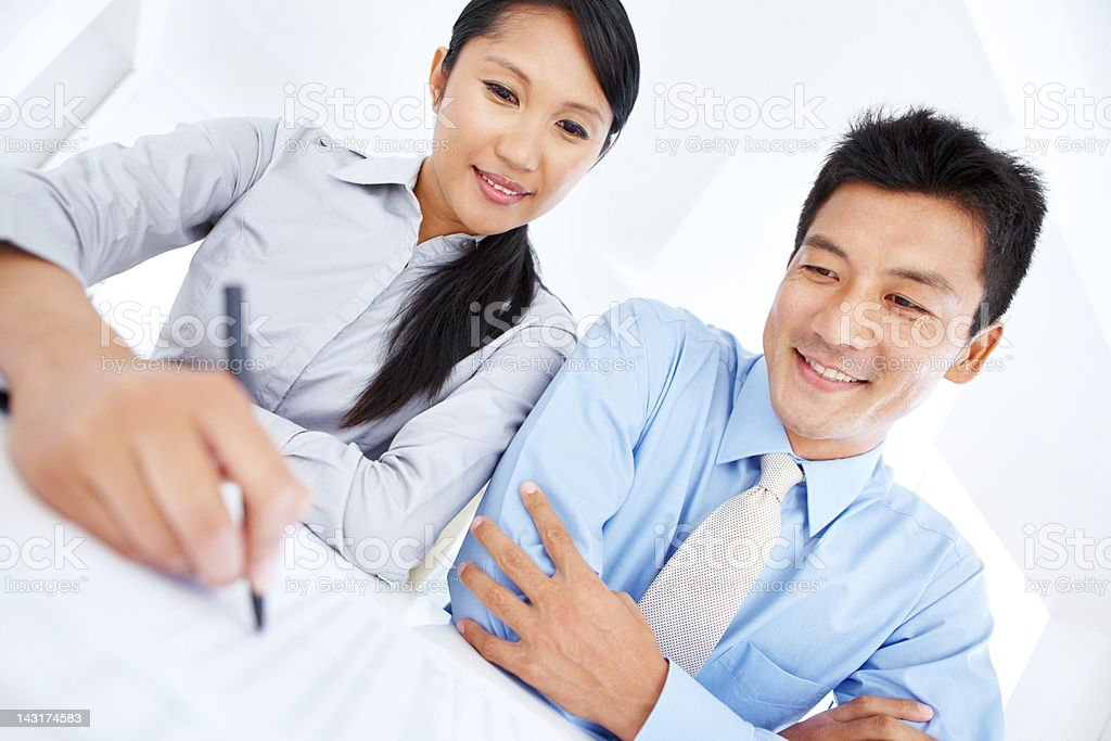 Entering into a beneficial agreement royalty-free stock photo