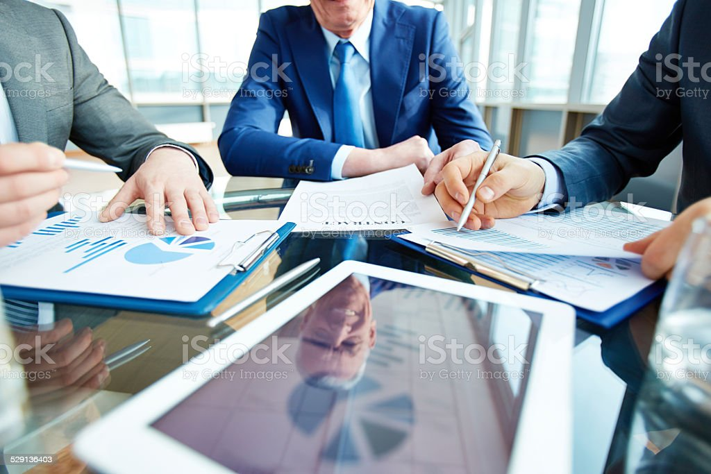 Entering into a contract stock photo