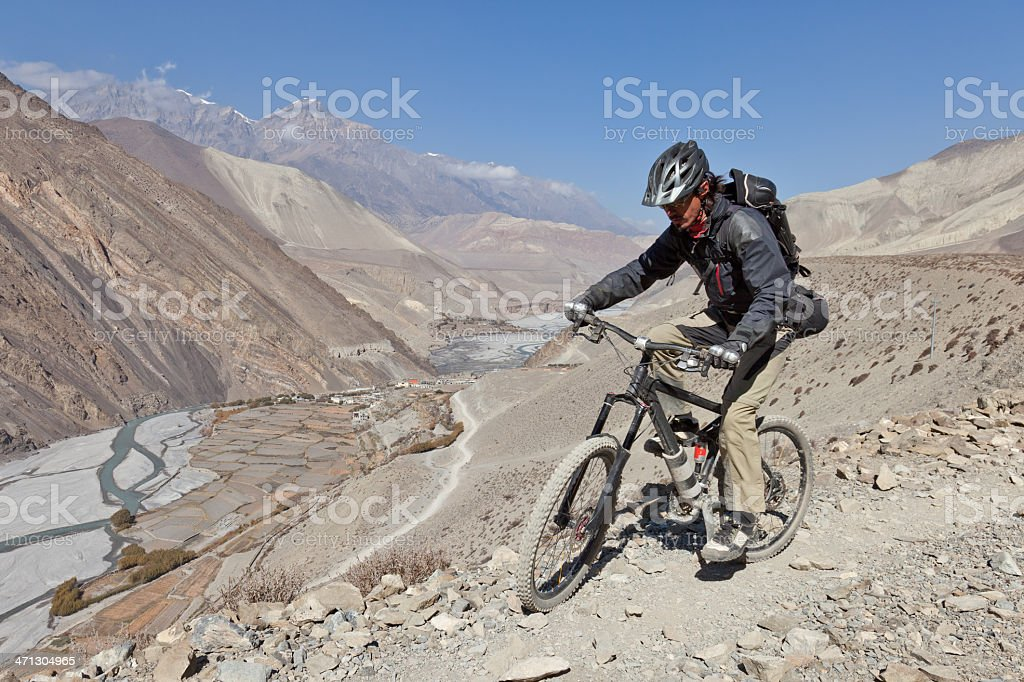 Entering Kali Gandaki Gorge, Nepal stock photo