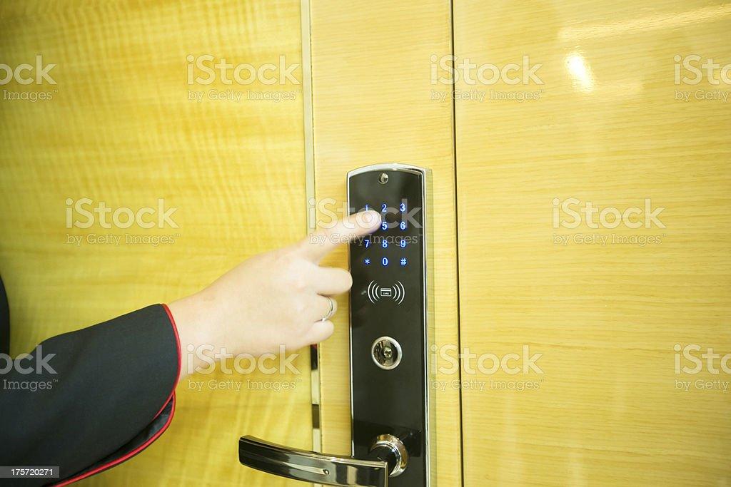 Entering keycode royalty-free stock photo
