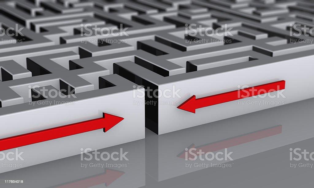 Entering Maze royalty-free stock photo