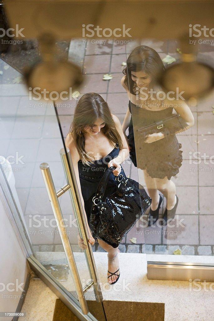 Entering stock photo