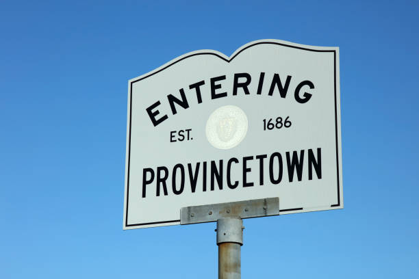 Entering Provincetown Sign Provincetown is a town located at the extreme tip of Cape Cod. Sometimes called P-town the town is known for its beaches, harbor, artists, tourist industry, and its reputation as a gay village. provincetown stock pictures, royalty-free photos & images