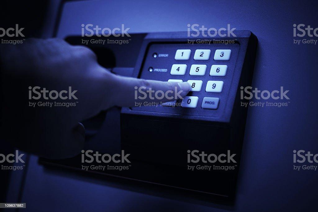 Entering Secret Code royalty-free stock photo