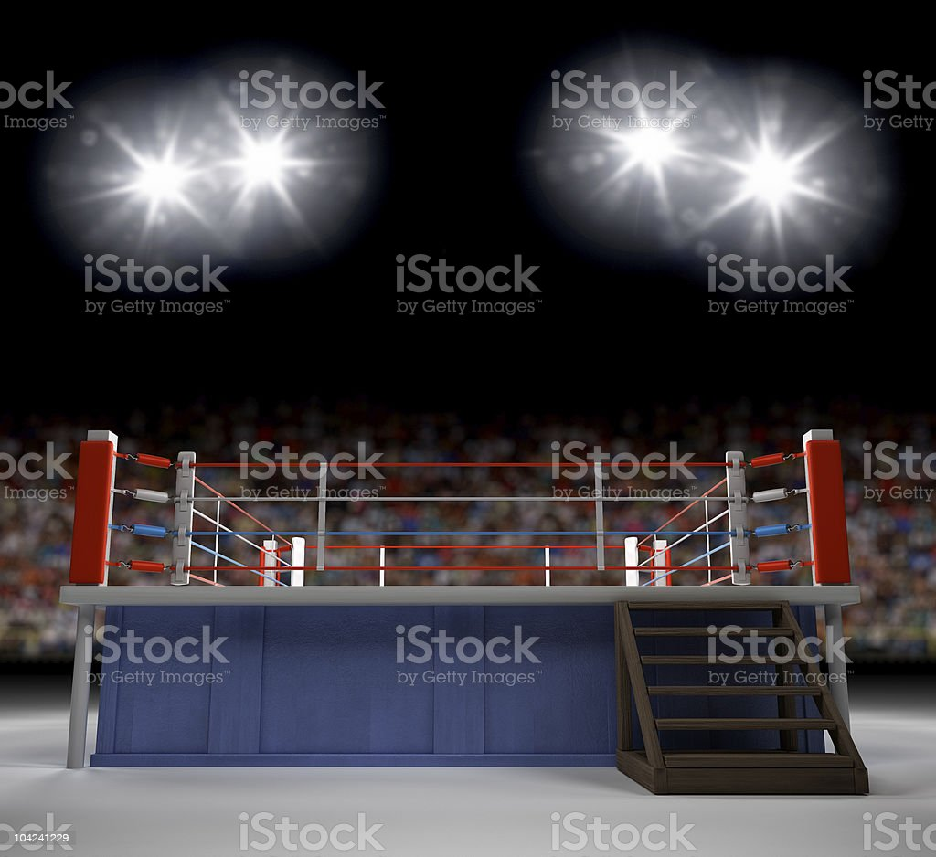 Entering the Ring stock photo