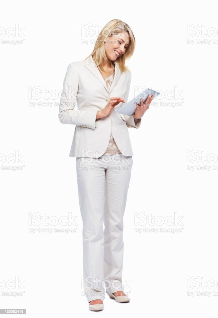 Entering your message into my calender royalty-free stock photo