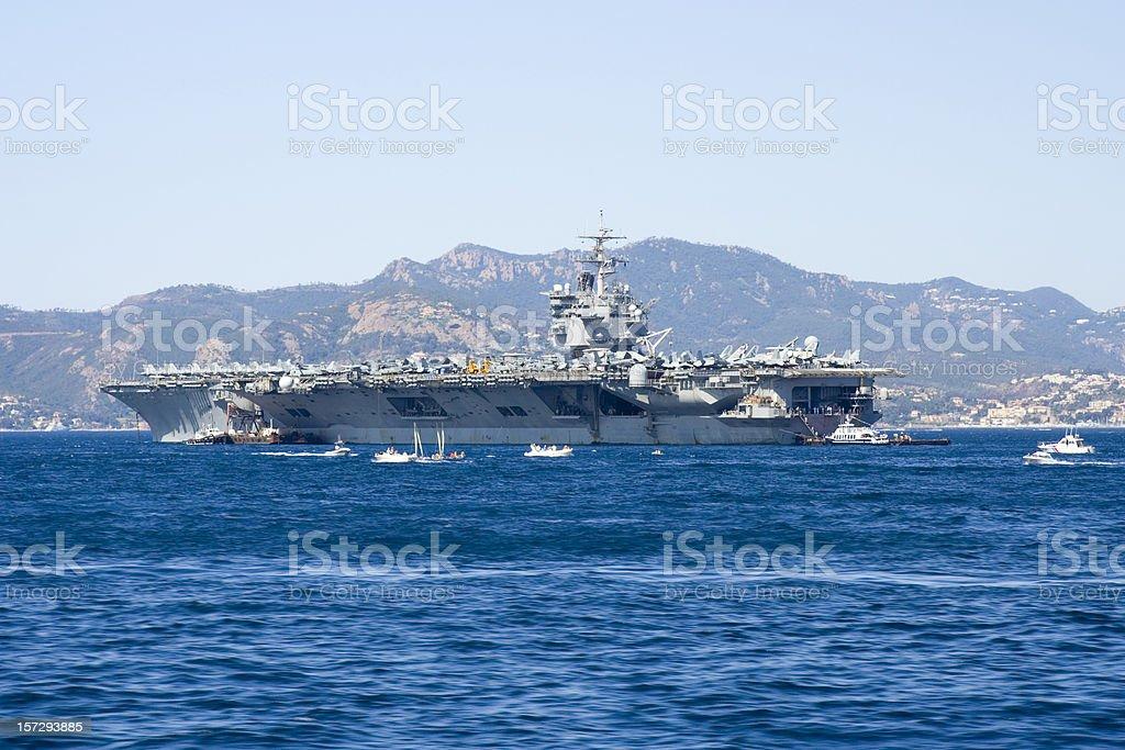 USS Enterprise Aircraft Carrier stock photo