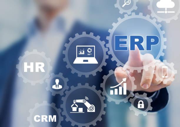 Enterprise Resource Planning (ERP) et les entreprises un concept de technologie de gestion de processus - Photo
