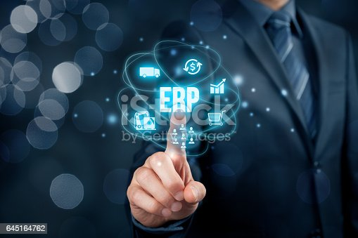 istock Enterprise resource planning ERP 645164762