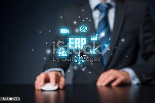 istock Enterprise resource planning ERP 645164770