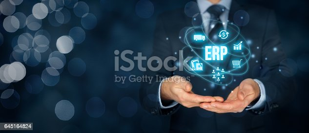 istock Enterprise resource planning ERP 645164824