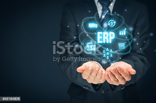 istock Enterprise resource planning ERP 645164826
