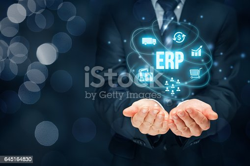 istock Enterprise resource planning ERP 645164830