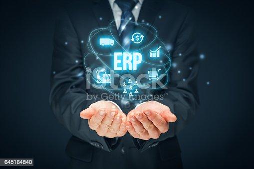 istock Enterprise resource planning ERP 645164840