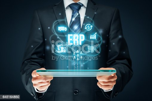 istock Enterprise resource planning ERP 645164850