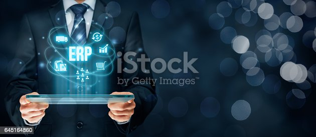 istock Enterprise resource planning ERP 645164860