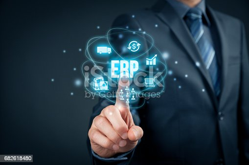 istock Enterprise resource planning ERP 682618480