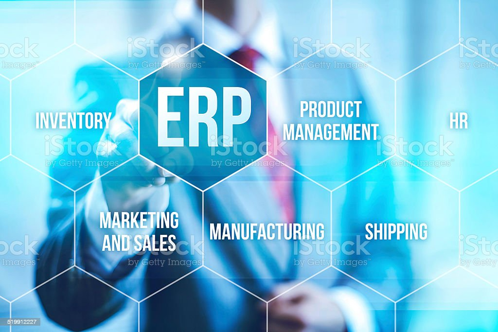 Enterprise Resource Planning stock photo
