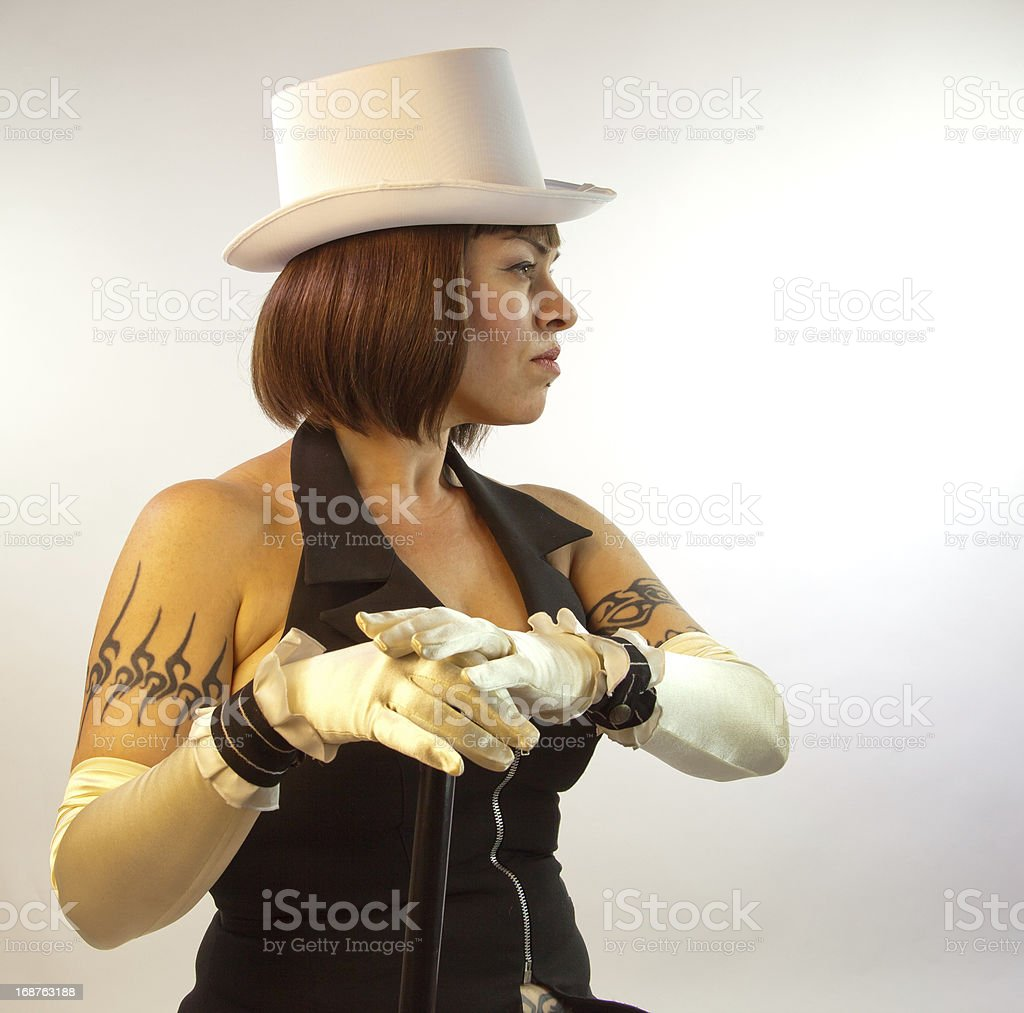 Entertainer In Profie stock photo