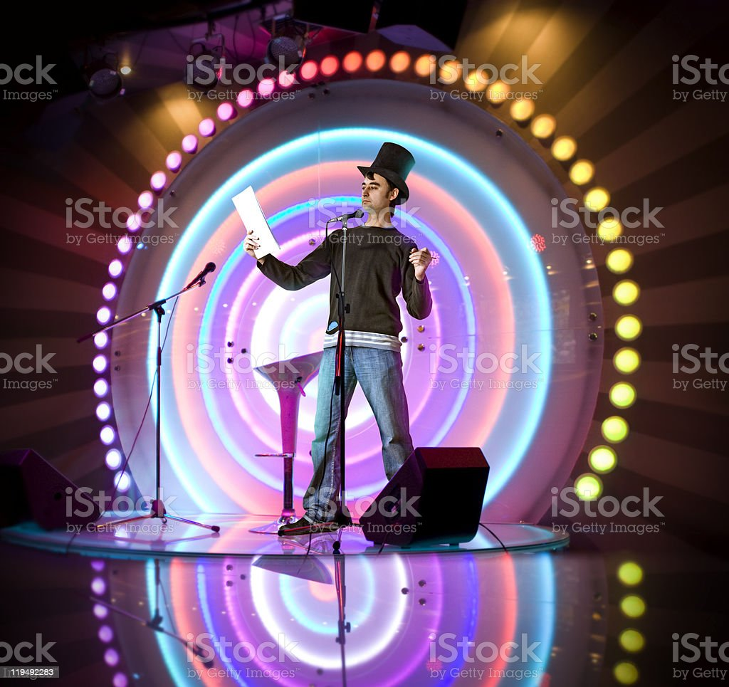 entertainer stock photo