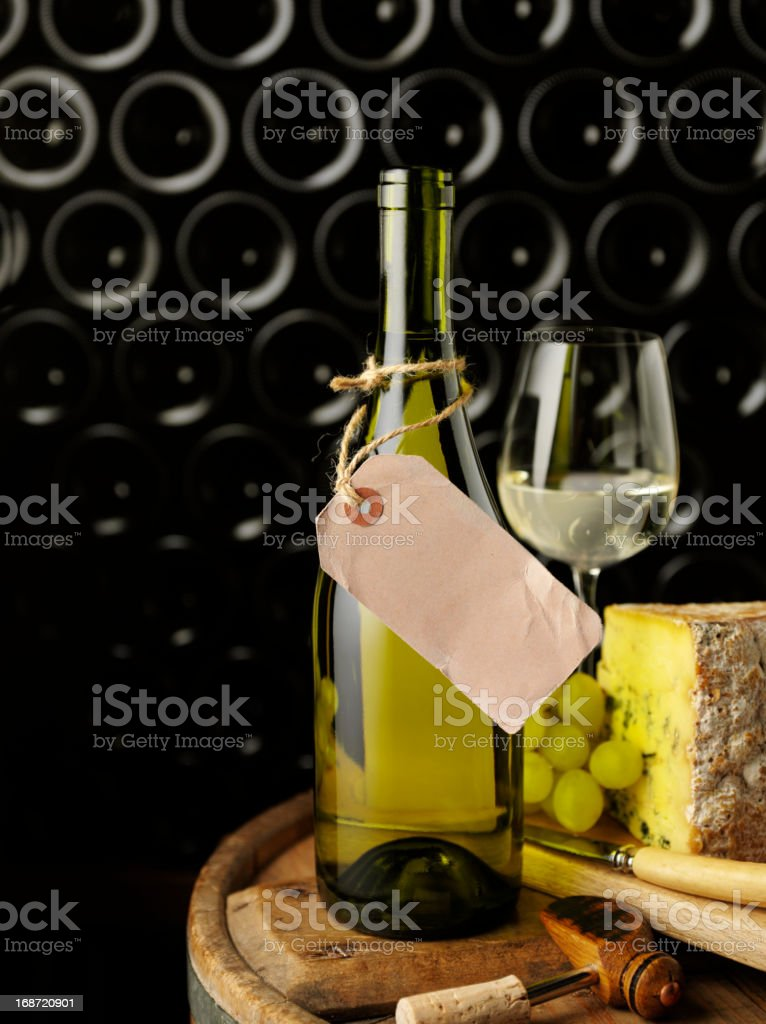 Entertaining with Cheese and Wine royalty-free stock photo
